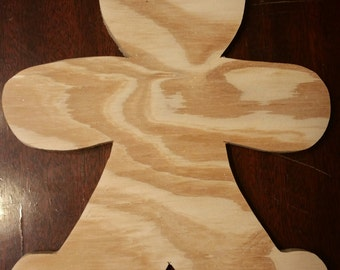 Unfinished gingerbread man cutouts