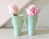 reserved for Dana-Vintage Jadeite Vase