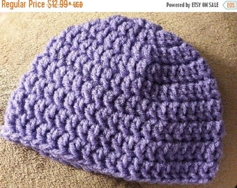 SUMMER SALE Basic Crochet Beanie Hat - 6 Sizes - Newborn to Adult