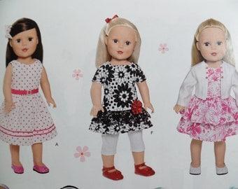 18in Doll Dress Pattern, Simplicity 1484 sewing pattern Summer wardrobe