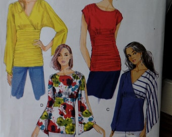 Butterick 5857--Close fitting Pull Over Tops--Sizes L-2X