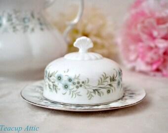 Paragon Debutante Butter Dish, English Bone China Tableware, Replacement China Dinnerware, ca. 1950