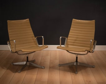Pair of Vintage Eames Aluminum Group Chairs