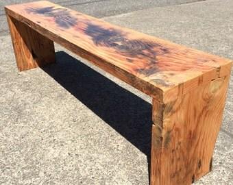 Salvaged Driftwood Fir Dovetailed Bench