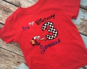 Lightening Mcqueen birthday shirt