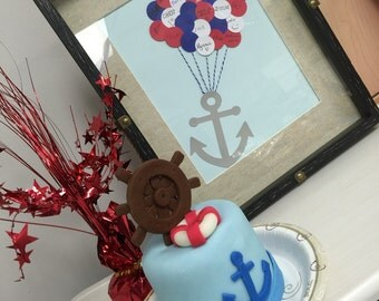 Anchor Guestbook alternative, Baby Shower Guestbook, Nautical Baby Shower