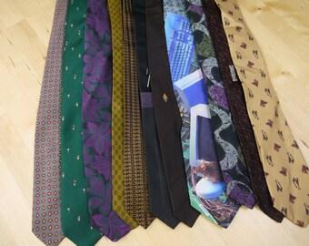 Vintage Bulk Lot of 11 Neck Ties