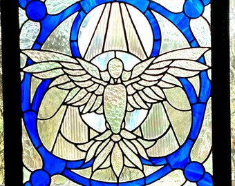Stained Glass Dove Panel
