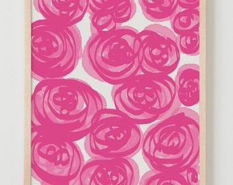 Fine Art Print. Pink Peony Flowers. Junen 26, 2011.
