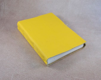 SALE Yellow genuine leather sketchbook notebook diary