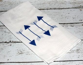 Arrow Towel/ Flour Sack Towel / Screen Printed Kitchen Towel