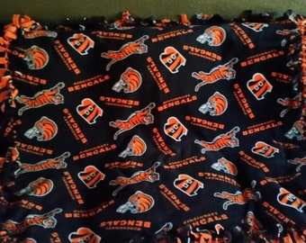 Cincinnati Bengals Fleece Tie Blanket
