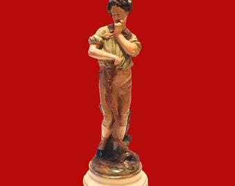 Chalkware Figurine Archer Roman Art Robia Ware