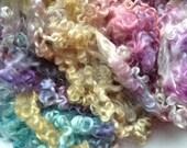 Hand dyed Wensleydale fleece 95g