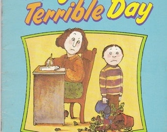 ON SALE Today was a Terrible Day  -  Vintage Childrens Book - American Edition 1980s