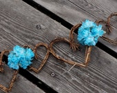 Rustic Spring Wedding Decor, Vine Garland With Flowers, 5ft