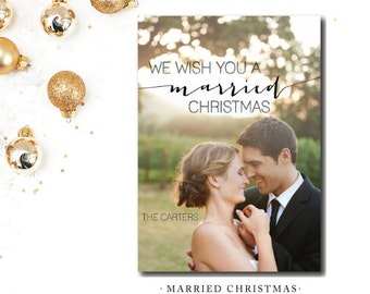 Married Christmas Printed Cards | Christmas Card | Printed or Printable by DarbyCards