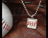 Real Baseball Skin Necklace Set