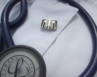 X-ray Enamel Lapel Pin- Medical and Hospital Pins for Nurses and Doctors- Xray technician- Med Student
