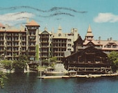 """Ca. 1965 """"Lake Mohonk Mountain House"""" New Paltz, NY Topographical Picture Postcard - 784"""