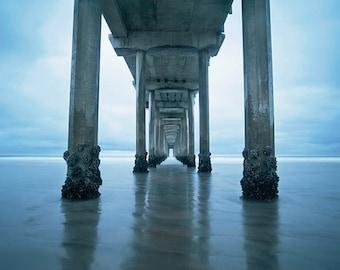 Large Art, Coastal Decor, Beach Photography, San Diego, pier