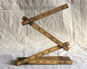 Vintage Wooden Extension Ruler