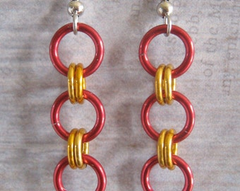 Simple Aluminum Chain Maille Earrings Geek to Chic Set of 3