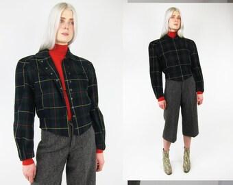 THIERRY MUGLER 80s Scottish Tartan Amzing Cut Vtg Jacket