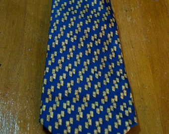 Vintage Authentic Salvatore Ferragamo Silk Domino Silk Tie
