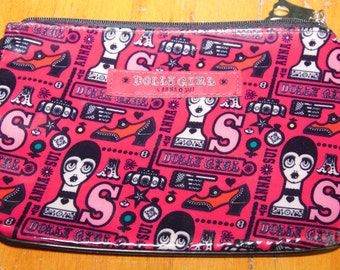 Set Of 3 Vintage Authentic Anna Sui Cosmetic Bags