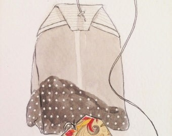 "Daily Illustration # 8/100 ""Tea Bag"""