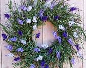 Spring Wreath-Front Door Wreath-Summer Wreath-Spring Summer Door Wreath-Floral Wreath-LAVENDER FLOWERS Floral Twig Door Wreath-Wreath-Wreath