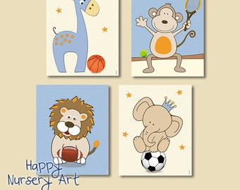 Boys Sport Prints Baby Boy Nursery Art Boys Sports Decor Nursery Sports Art Prints Basketball Print Soccer Poster tennis poster animals art