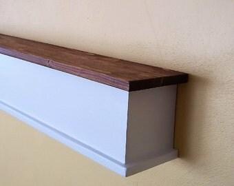 Country Farm House Wall Shelf - Wood Shelf - Fireplace Mantle - Wood Shelves -
