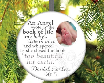 Infant Loss Christmas Ornament - Miscarriage Christmas Ornament - Stillbirth Christmas Ornament