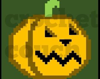 C2C Graph, Jack o Lantern Square, C2C Graph,  Written Word Chart, Halloween Graph, Halloween C2C, pumpkin graph, pumpkin c2c
