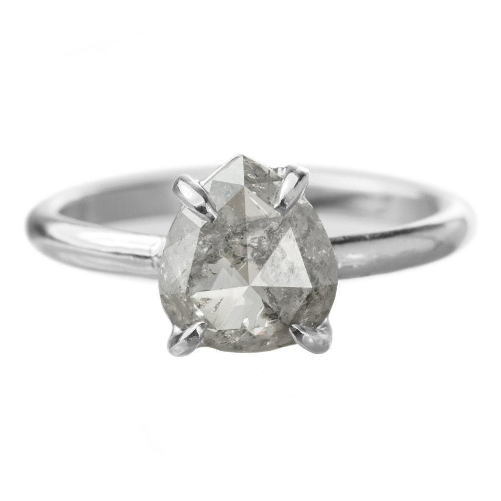 1 48 Carat Grey Diamond Engagement Ring