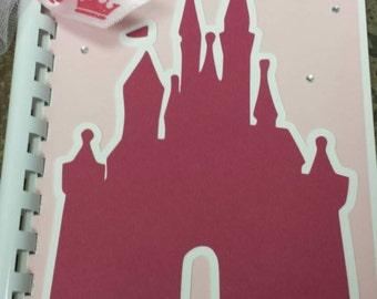 Disney Autograph Book, Brag Book - Pink Cinderella Castle