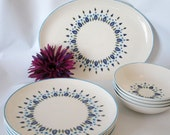 Set of 9 Stetson Marcrest Swiss Chalet Pattern, Plates Bowls and Platter. Great Condition.