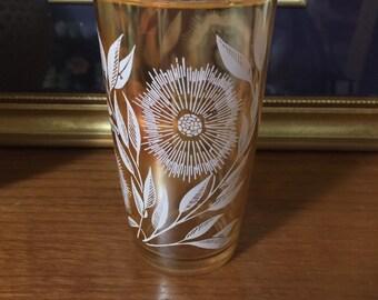 Jeanette Cosmos Tumbler Marigold Carnival Glass