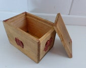 Post Box/French Vintage/Postage Box/Small Parcels/Wax Seal/Sliding Lid/Antique French/Pine/Ring Box/Case/Wood Box