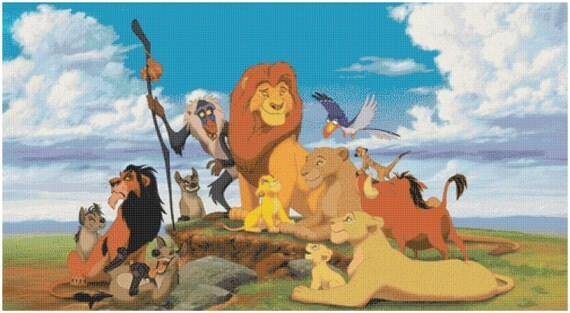 The Lion King 14 Count Cross Stitch Chart / Kit