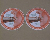 Vintage Coca-Cola Paper Coasters, Matching Pair, How To Drink a Coke