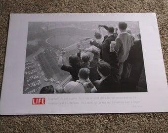 George Silk BaseBall Poster-Life Magazine