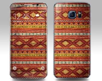 TRIBAL WOOD PRINT Galaxy Decal Galaxy Skin Galaxy Cover Galaxy S6 Skin, Galaxy S6 Edge Decal Galaxy Note Skin Galaxy Note Decal Cover
