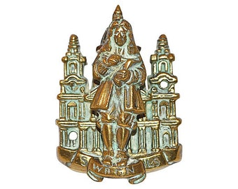 Architect Christopher Wren Door Knocker from England Vintage and Excellent
