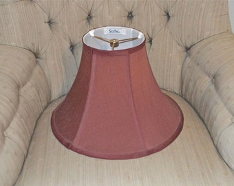 Mid Century Lamp Shade Stiffel with Tag Muted Cranberry 10 Inches Tall Made in the USA