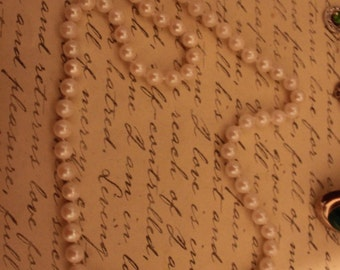 Fab 40's Genuine Pearls with 14K Clasp Necklace-Knotted in Between