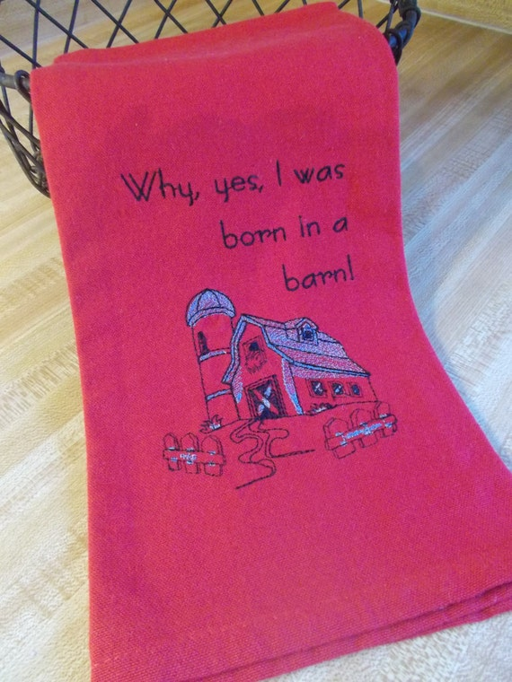 Embroidered Towel Kitchen Towel Funny Kitchen by ninisayssew