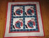 Raggedy Ann wall- lap-baby quilt--SALE